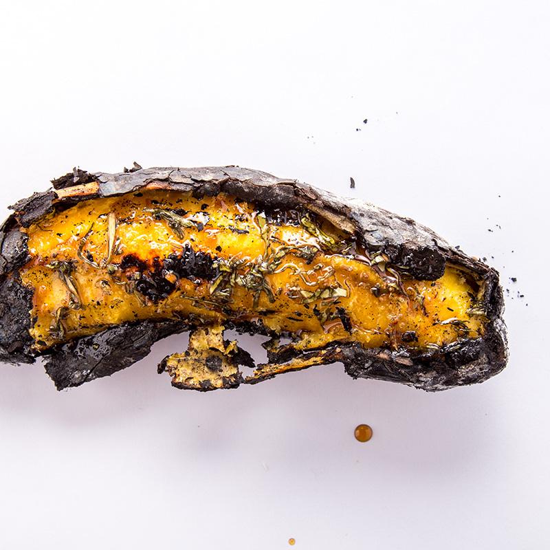 Plátano al carbón, kelewele ghanés.